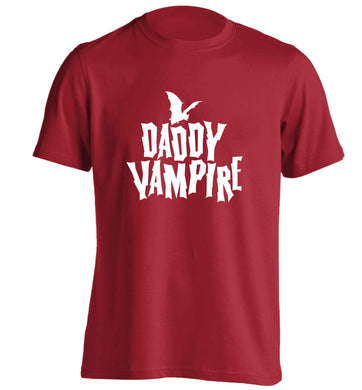 Daddy vampire adults unisex red Tshirt 2XL