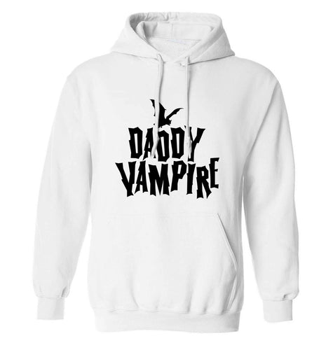 Daddy vampire adults unisex white hoodie 2XL