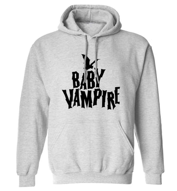 Baby vampire adults unisex grey hoodie 2XL