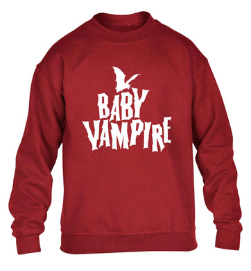 Baby vampire children's grey sweater 12-13 Years