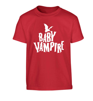 Baby vampire Children's red Tshirt 12-13 Years