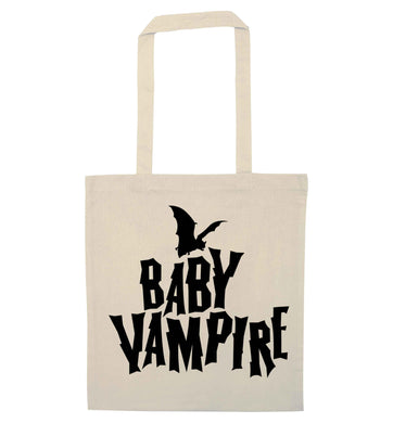 Baby vampire natural tote bag