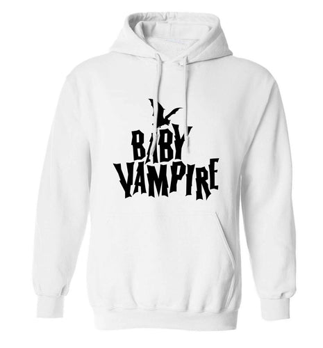 Baby vampire adults unisex white hoodie 2XL