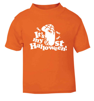 My 1st Halloween Pumpkin orange baby toddler Tshirt 2 Years