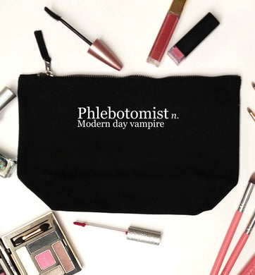 Phlebotomist - Modern day vampire black makeup bag