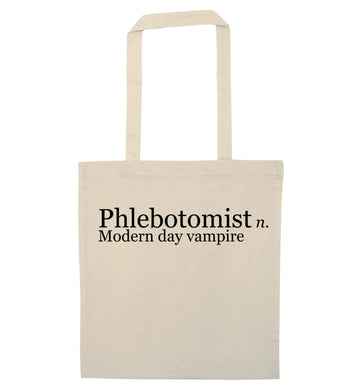 Phlebotomist - Modern day vampire natural tote bag