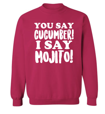 You say cucumber I say mojito! Adult's unisex pink Sweater 2XL