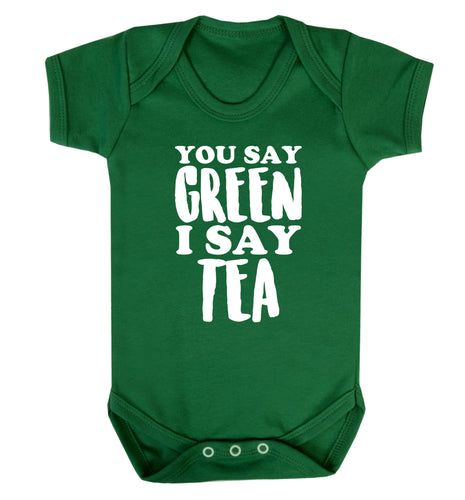 You say green I say tea! Baby Vest green 18-24 months