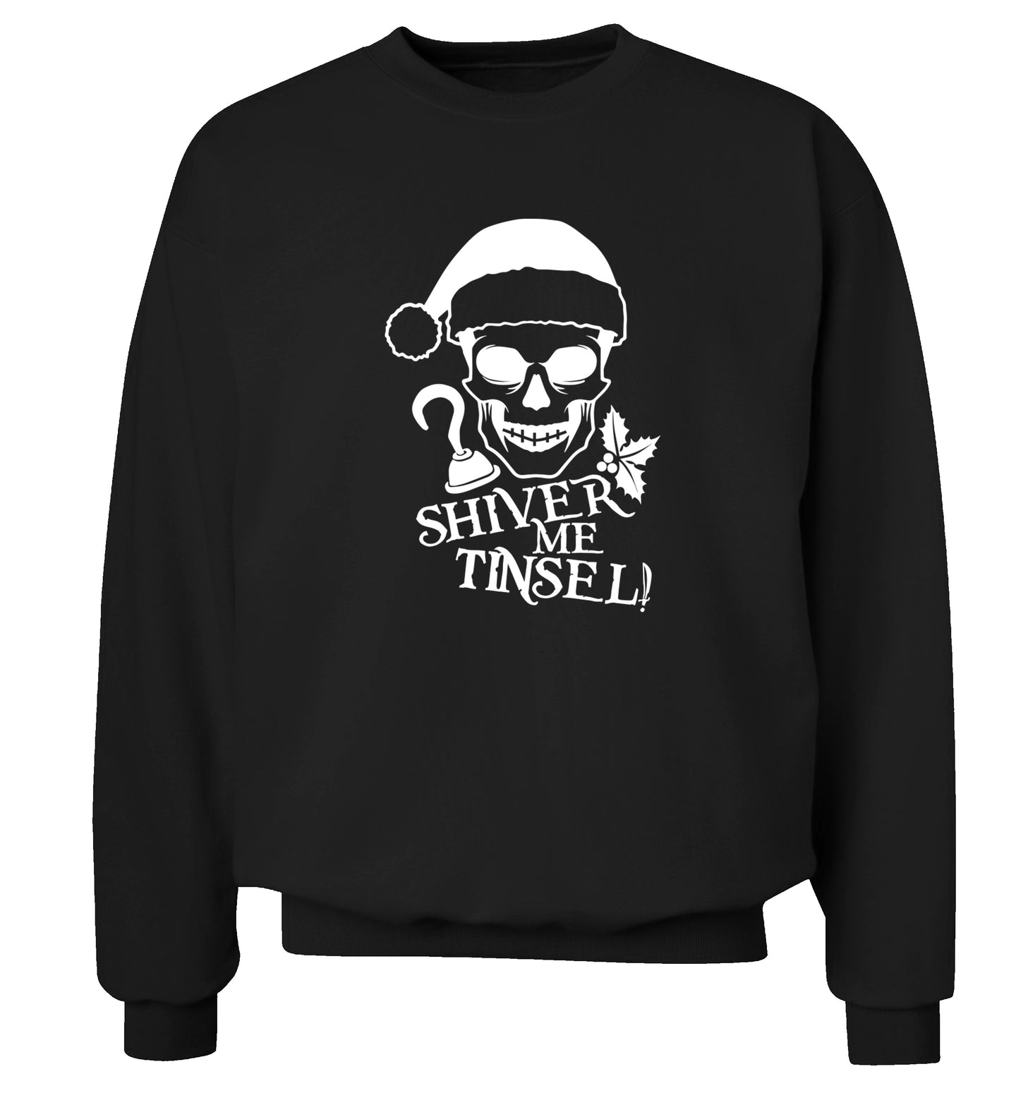 Shiver me tinsel Adult's unisex black Sweater 2XL