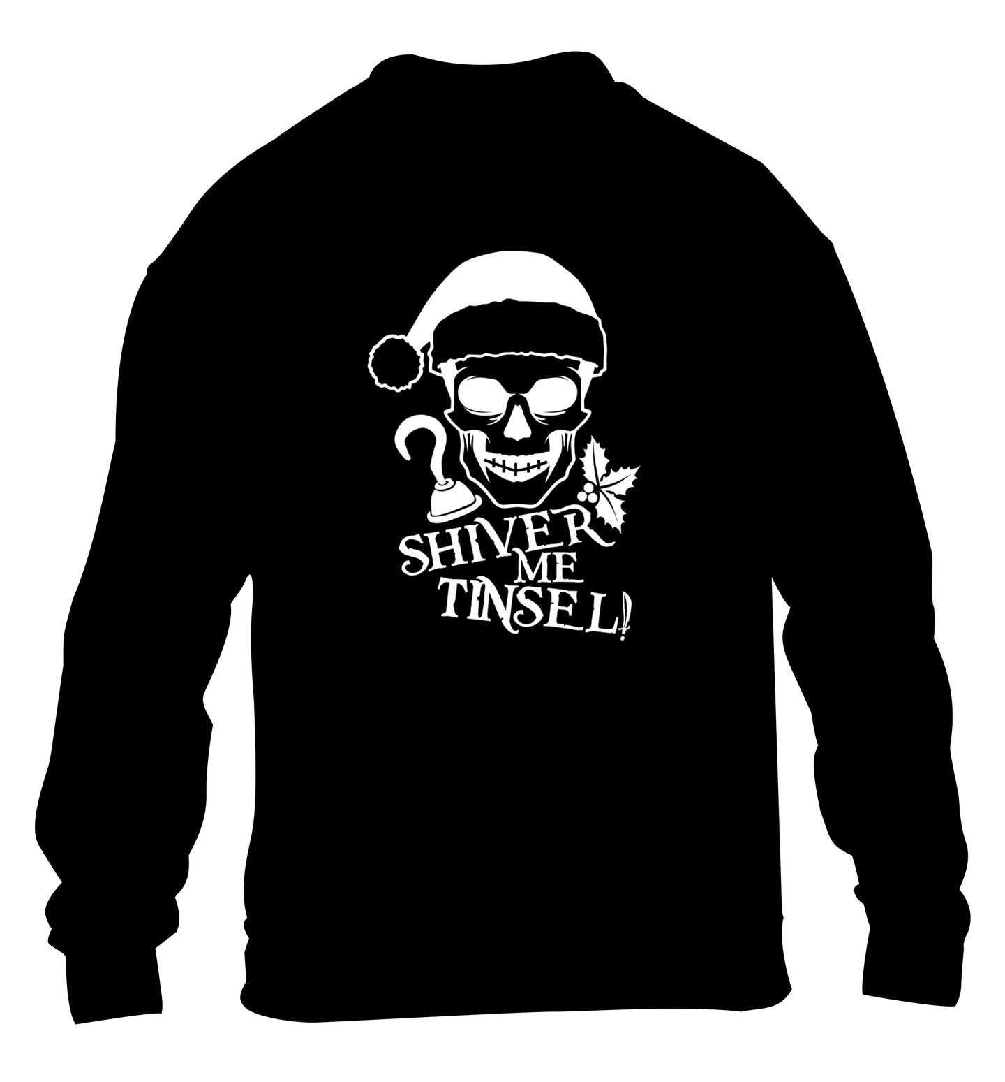 Shiver me tinsel children's black sweater 12-14 Years
