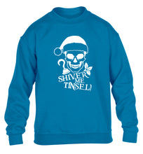 Shiver me tinsel children's blue sweater 12-14 Years