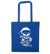 Shiver me tinsel blue tote bag