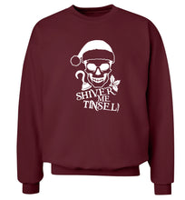 Shiver me tinsel Adult's unisex maroon Sweater 2XL