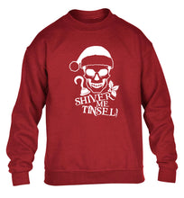 Shiver me tinsel children's grey sweater 12-14 Years