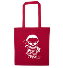 Shiver me tinsel red tote bag