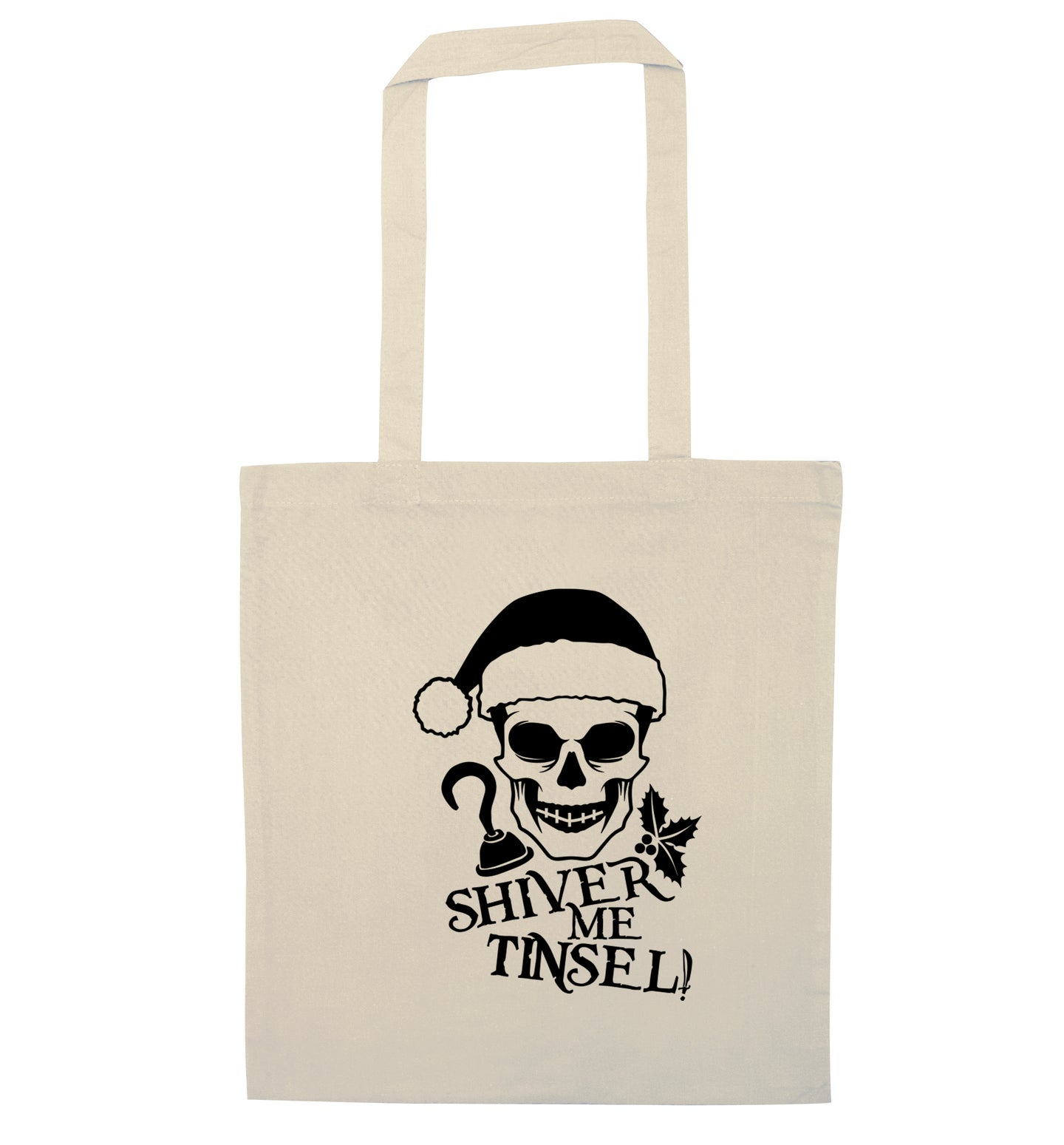 Shiver me tinsel natural tote bag