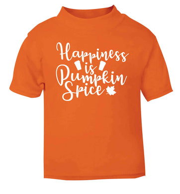 Happiness Pumpkin Spice orange baby toddler Tshirt 2 Years