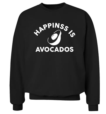 Happiness is avocados Adult's unisex black Sweater 2XL