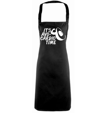 It's avo-cardio time black apron