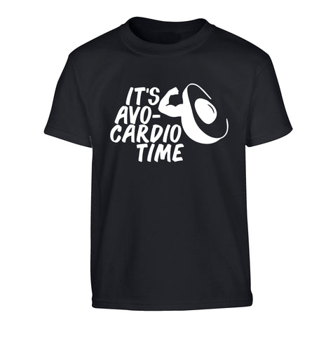It's avo-cardio time Children's black Tshirt 12-14 Years