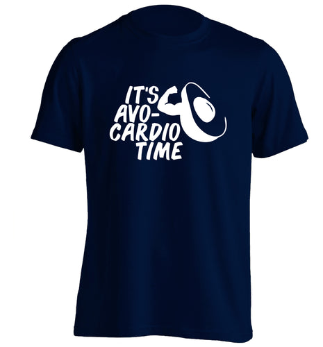 It's avo-cardio time adults unisex navy Tshirt 2XL