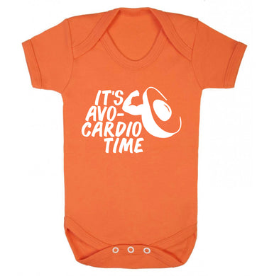 It's avo-cardio time Baby Vest orange 18-24 months
