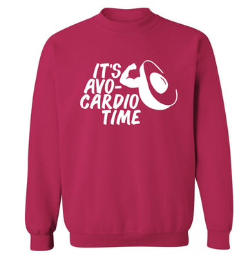 It's avo-cardio time Adult's unisex pink Sweater 2XL
