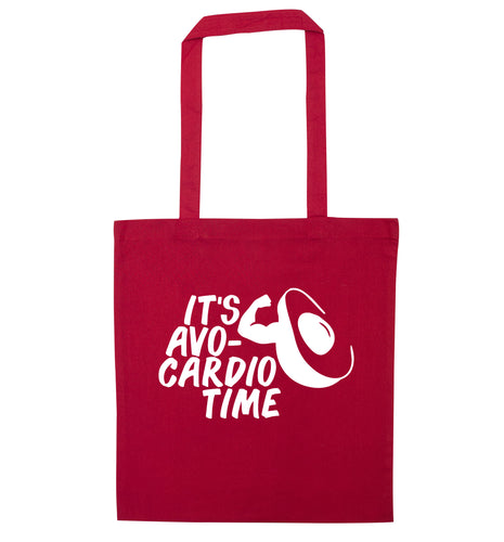 It's avo-cardio time red tote bag