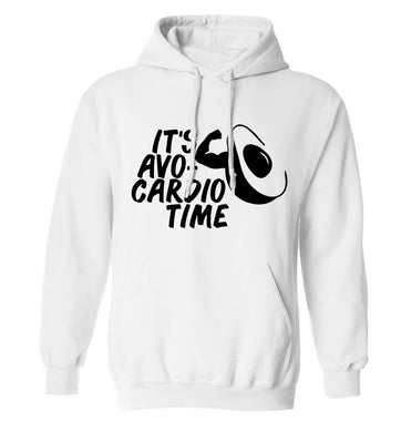 It's avo-cardio time adults unisex white hoodie 2XL