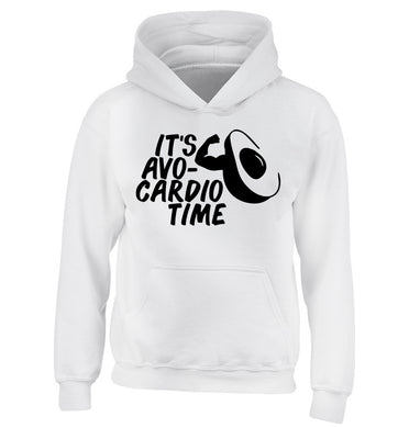 It's avo-cardio time children's white hoodie 12-14 Years