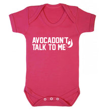 Avocadon't talk to me Baby Vest dark pink 18-24 months