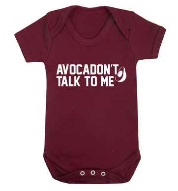 Avocadon't talk to me Baby Vest maroon 18-24 months