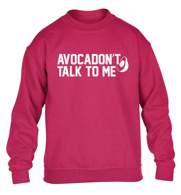 Avocadon't talk to me children's pink sweater 12-14 Years