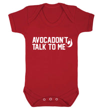 Avocadon't talk to me Baby Vest red 18-24 months