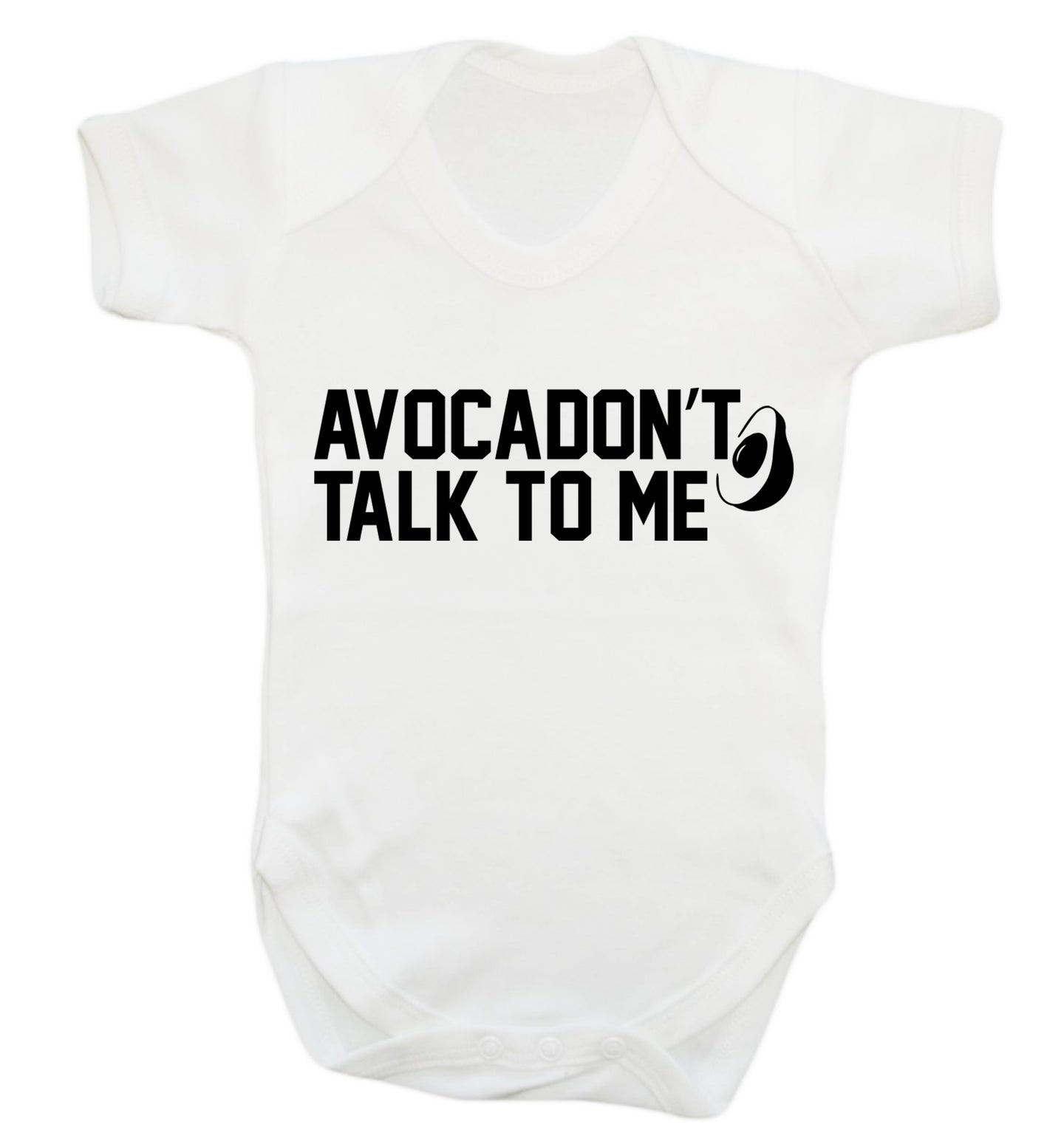 Avocadon't talk to me Baby Vest white 18-24 months