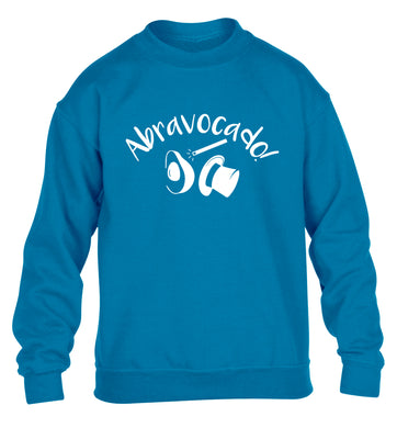Abravocado children's blue sweater 12-14 Years