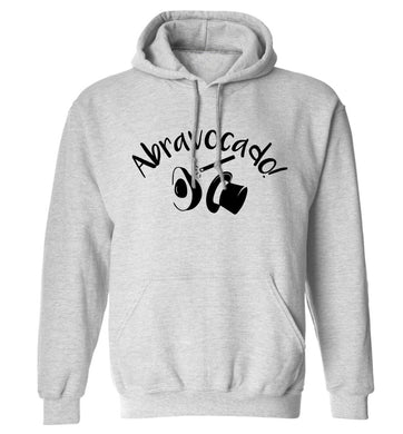 Abravocado adults unisex grey hoodie 2XL