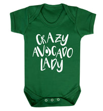 Crazy avocado lady Baby Vest green 18-24 months