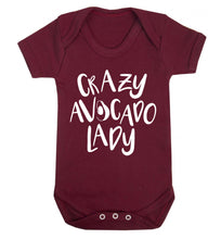 Crazy avocado lady Baby Vest maroon 18-24 months