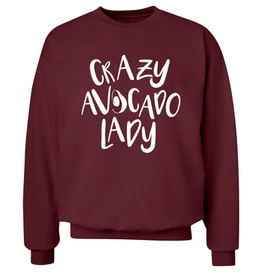 Crazy avocado lady Adult's unisex maroon Sweater 2XL