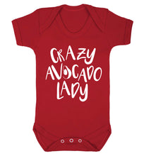 Crazy avocado lady Baby Vest red 18-24 months