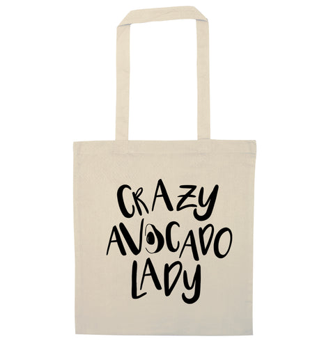 Crazy avocado lady natural tote bag