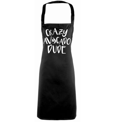Crazy avocado dude black apron