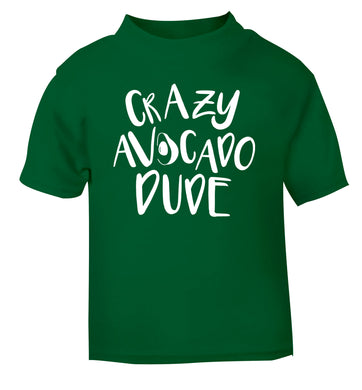 Crazy avocado dude green Baby Toddler Tshirt 2 Years