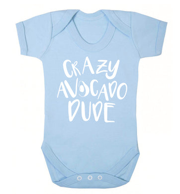 Crazy avocado dude Baby Vest pale blue 18-24 months