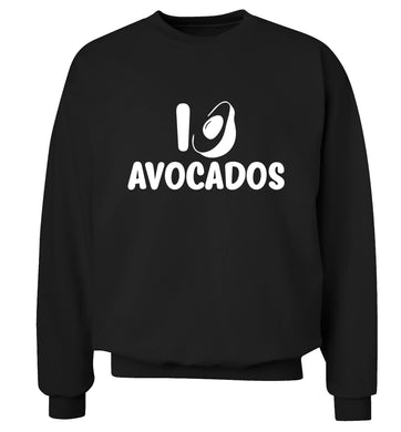I love avocados Adult's unisex black Sweater 2XL