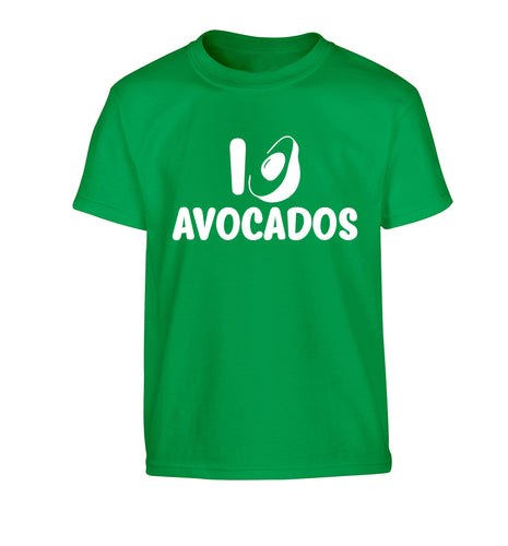 I love avocados Children's green Tshirt 12-14 Years