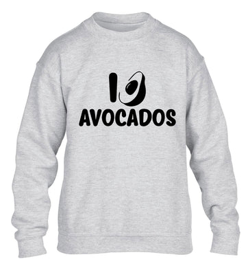 I love avocados children's grey sweater 12-14 Years
