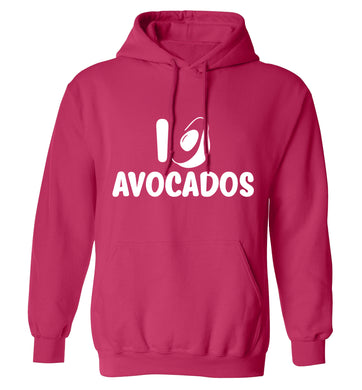 I love avocados adults unisex pink hoodie 2XL
