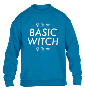 Basic witch 1 children's blue sweater 12-13 Years